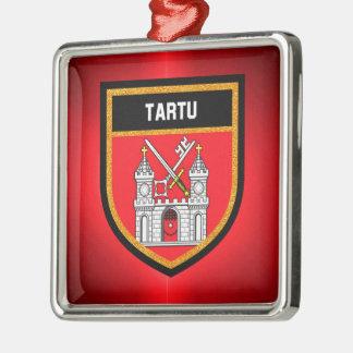 Tartu Flag Metal Ornament