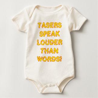 Tasers speak louder than words baby bodysuit