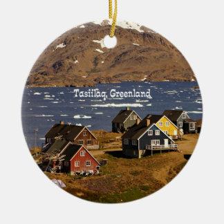Tasiilaq, Greenland Ceramic Ornament