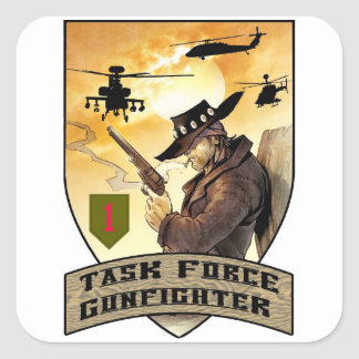 Task Force Gunfighter Patch Square Sticker