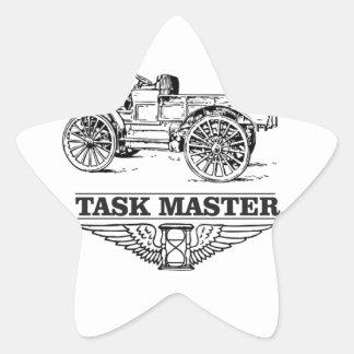 task master truck star sticker