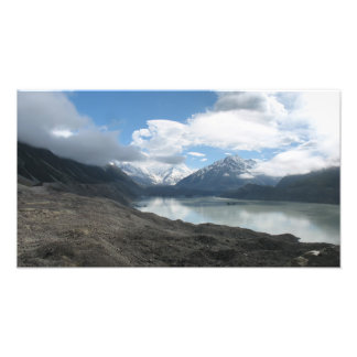 Tasman glacier lake, Southern Alps New Zealand Photographic Print