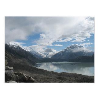 Tasman lake glacier, Southern Alps, New Zealand Photograph