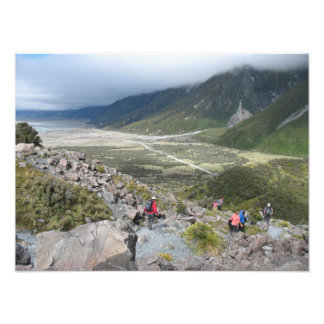 Tasman Valley view, Southern Alps, New Zealand Photographic Print