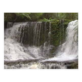 TASMANIA AUSTRALIA WATERFALLS  NATURE RIVERS POSTCARD