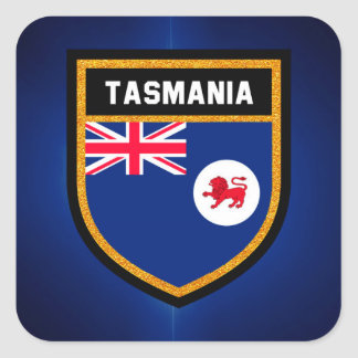 Tasmania Flag Square Sticker