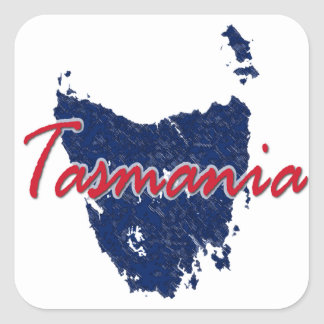 Tasmania Square Sticker
