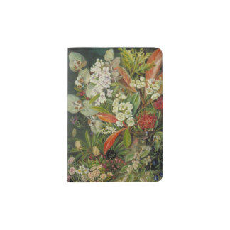Tasmanian Botanical Flower Painting Passport Holder