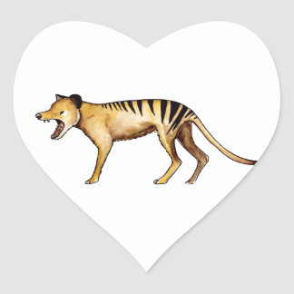 Tasmanian tiger, Thylacine Heart Sticker