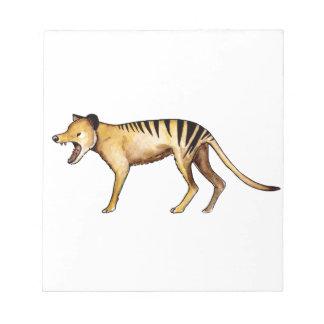 Tasmanian tiger, Thylacine Notepads