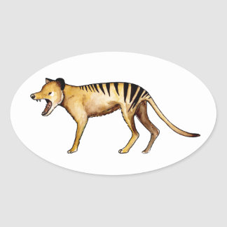Tasmanian tiger, Thylacine Oval Sticker