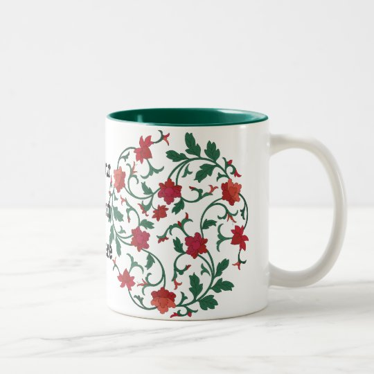 Tasse 2 Couleurs floral chinois