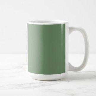 Tasse avec l'arrière - plan de vert sauge