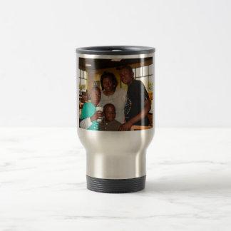Tasse de banlieusard de photo témoin de famille
