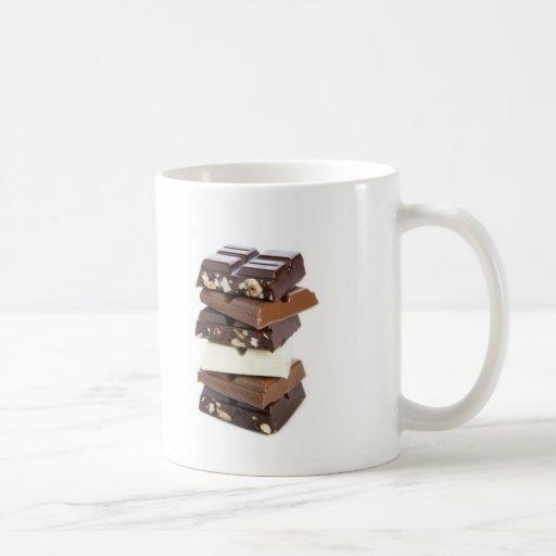 Tasse de barres de chocolat