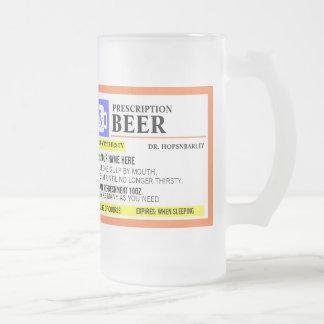 Tasse de bière drôle de prescription