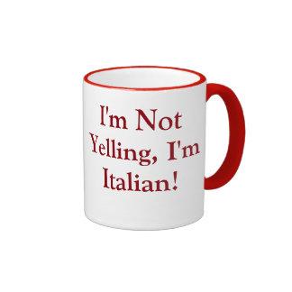 Tasse de café avec l'énonciation italienne
