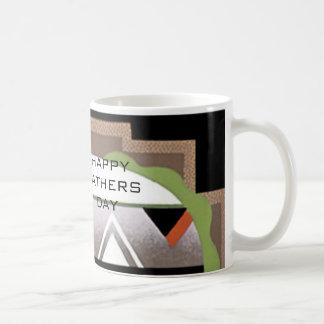 Tasse de café d'art déco de fête des pères par