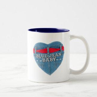 Tasse de café de bébé de blue-jean