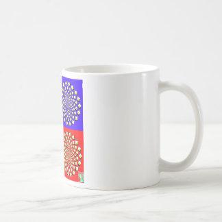 Tasse de café de quatre carrés