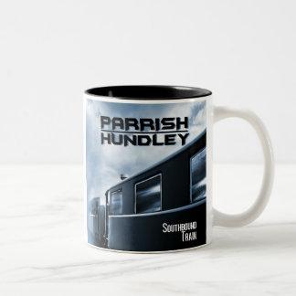 Tasse de café de train allant vers le sud
