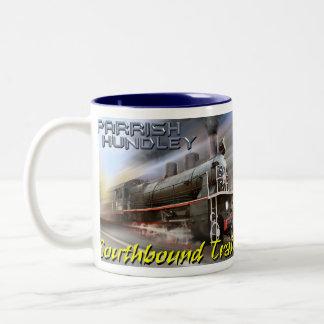 Tasse de café de train allant vers le sud de