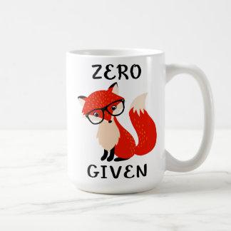 Tasse de café drôle donnée par Fox zéro de