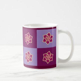 Tasse de café florale violette