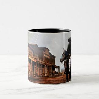 Tasse de café solitaire de cavalier