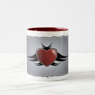 Tasse de café tribale de coeur