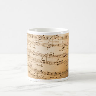 Tasse de classique de feuille de musique