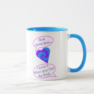 tasse de Dieu de 15 onces, équilibre bleu