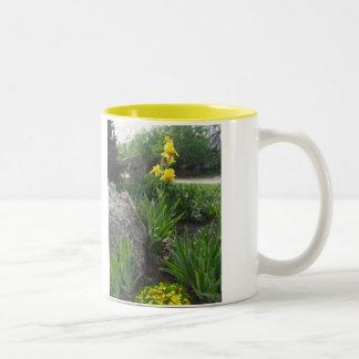 Tasse de jardin d'iris jaune