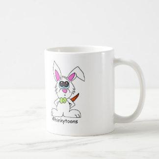 tasse de lapin de bande dessinée