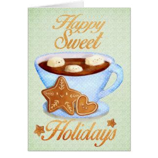 Tasse de Noël de Choco chaud Carte De Vœux