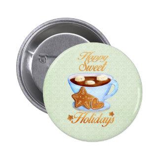 Tasse de Noël de Choco chaud Macaron Rond 5 Cm