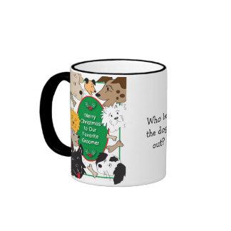 Tasse de Noël de Groomer de chien
