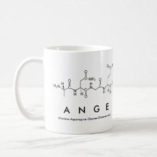 Tasse de nom de peptide d'Ange