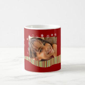 Tasse de photo personnalisée par Noël moderne