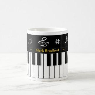 Tasse de piano - personnalisez le nom