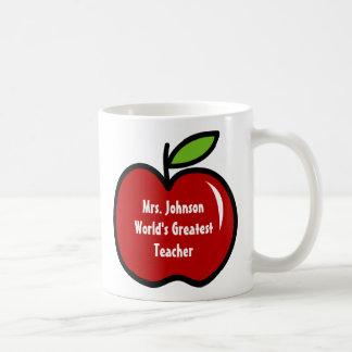 Tasse de professeur avec la conception rouge de la