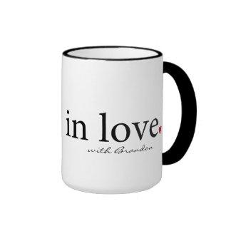 Tasse de Valentine, cadeau personnalisé de Valenti
