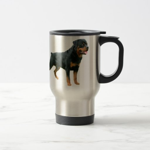 Tasse de voyage de rottweiler