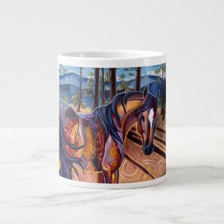 Tasse d'éléphant de cheval de lac cedar mugs extra larges