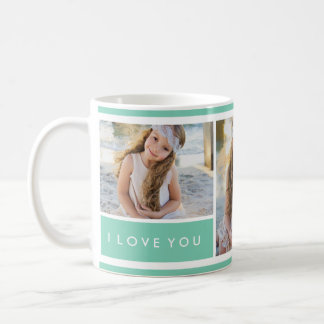 Tasse du collage | de photo de Seafoam je t'aime