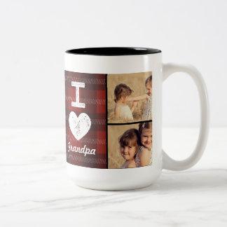 Tasse faite sur commande de photo de coeur vintage