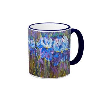 "Tasse florale ""de fleurs de jardin d'iris"""