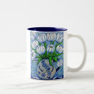 """Tasse florale géniale de Coffe de """"tulipe"""""""