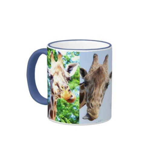 Tasse Giraffen lustig Ringer Mug