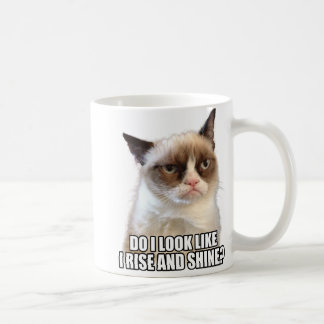 Tasse grincheuse de chat